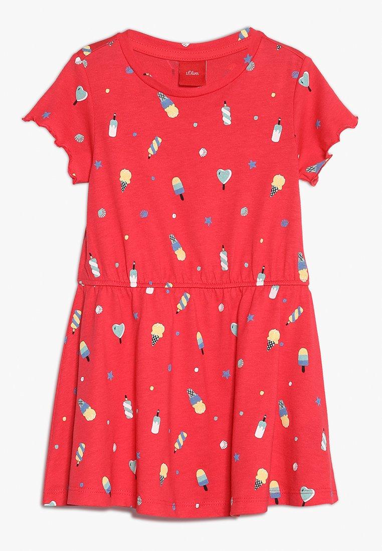 s.Oliver - KURZ - Žerzejové šaty - red