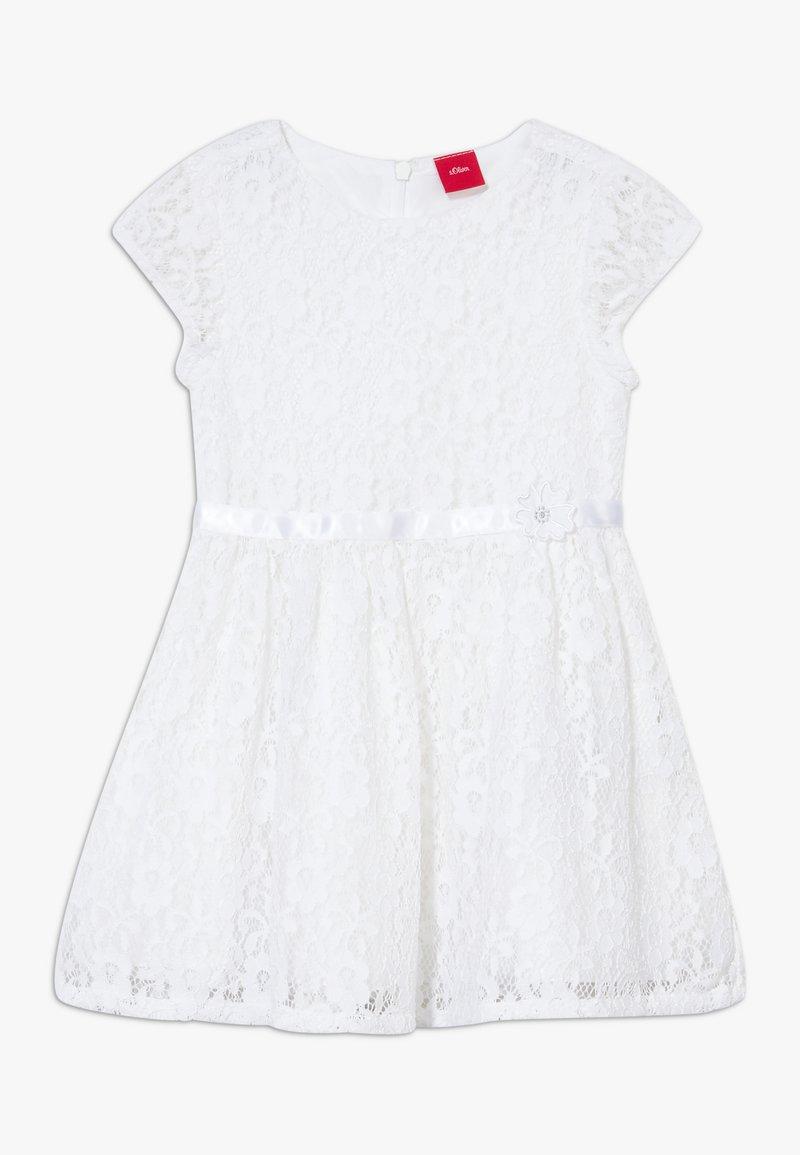 s.Oliver - KURZ - Cocktail dress / Party dress - white