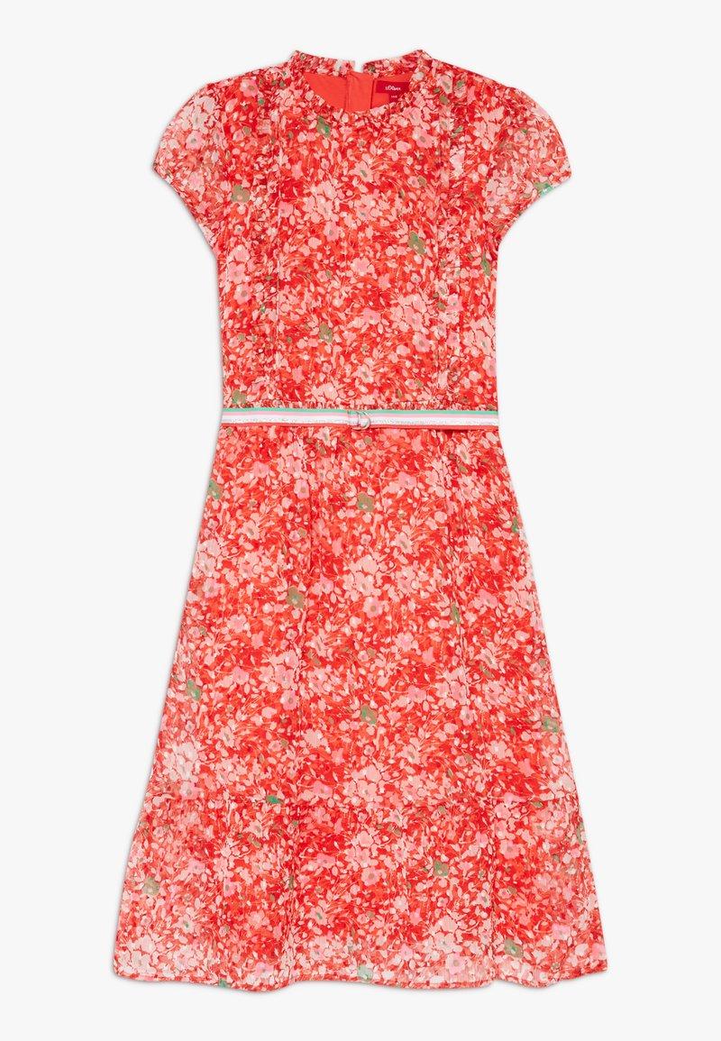 s.Oliver - Vestido ligero - chinese red