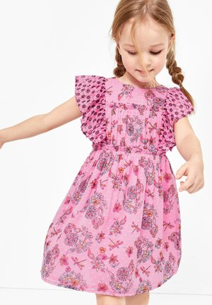 KURZ - Korte jurk - pink aop