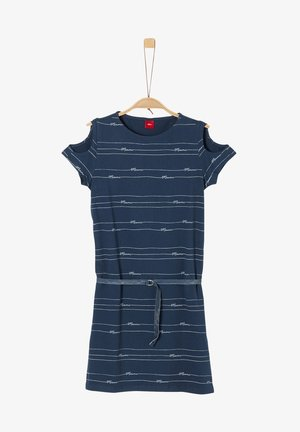 Jerseykleid - navy stripes aop
