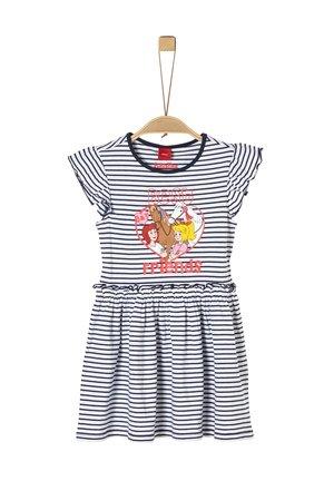 Jersey dress - navy stripes