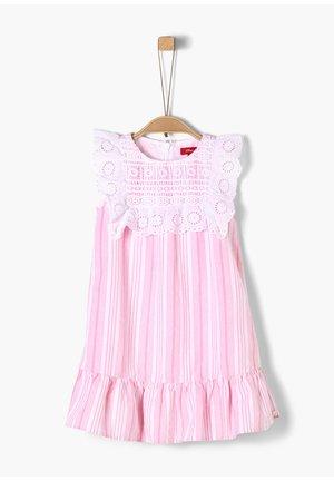 Korte jurk - pink stripes