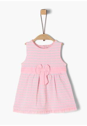 Korte jurk - light pink aop