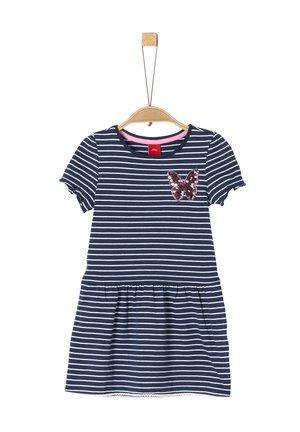 Freizeitkleid - dark blue stripes