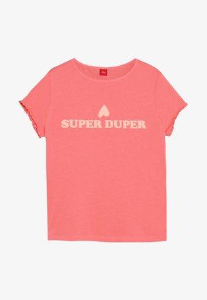 KURZARM - T-shirt print - coral red