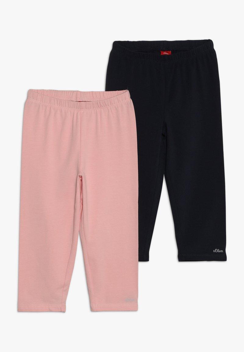 s.Oliver - 2 PACK - Leggings - light pink/blue