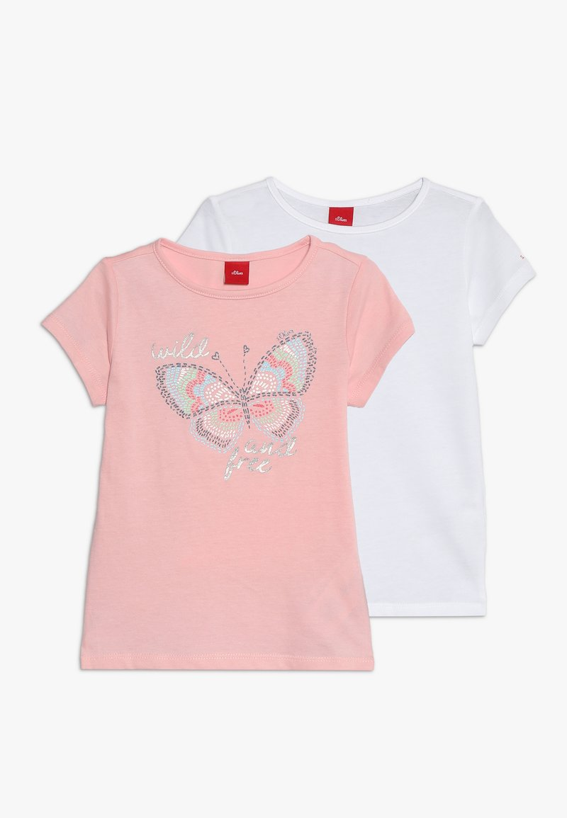s.Oliver - KURZARM 2 PACK - T-shirt print - white