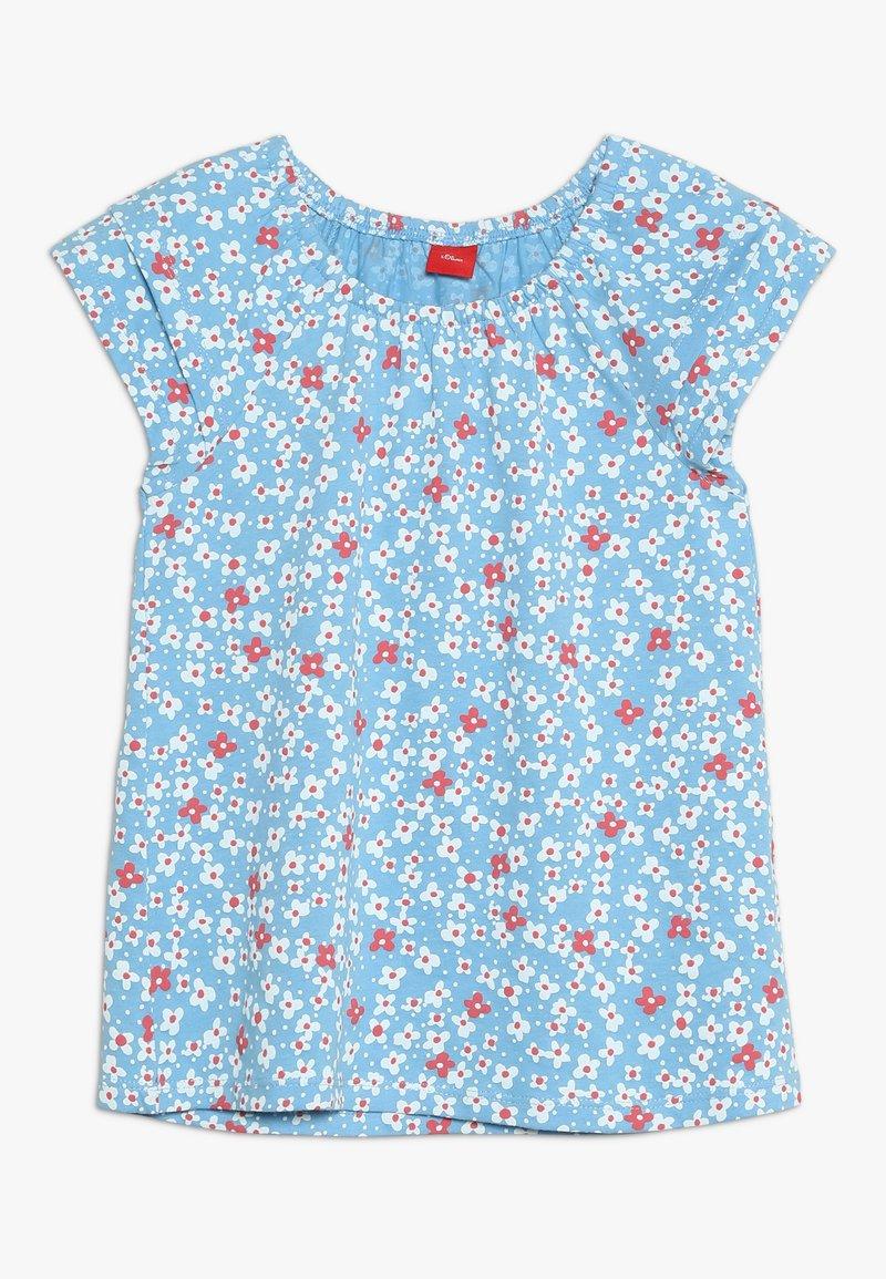 s.Oliver - KURZARM - T-shirts print - light blue melange