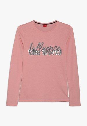 Top sdlouhým rukávem - light pink rosa