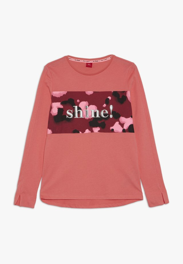 Long sleeved top - blush coral