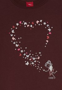 s.Oliver - LANGARM - Top sdlouhým rukávem - berry - 3