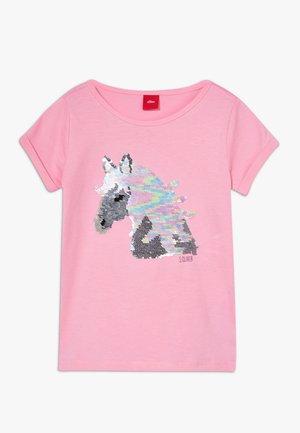 KURZARM - Print T-shirt - light pink