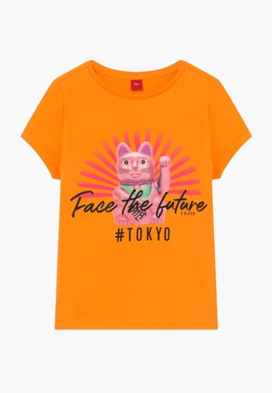 KURZARM - Camiseta estampada - orange