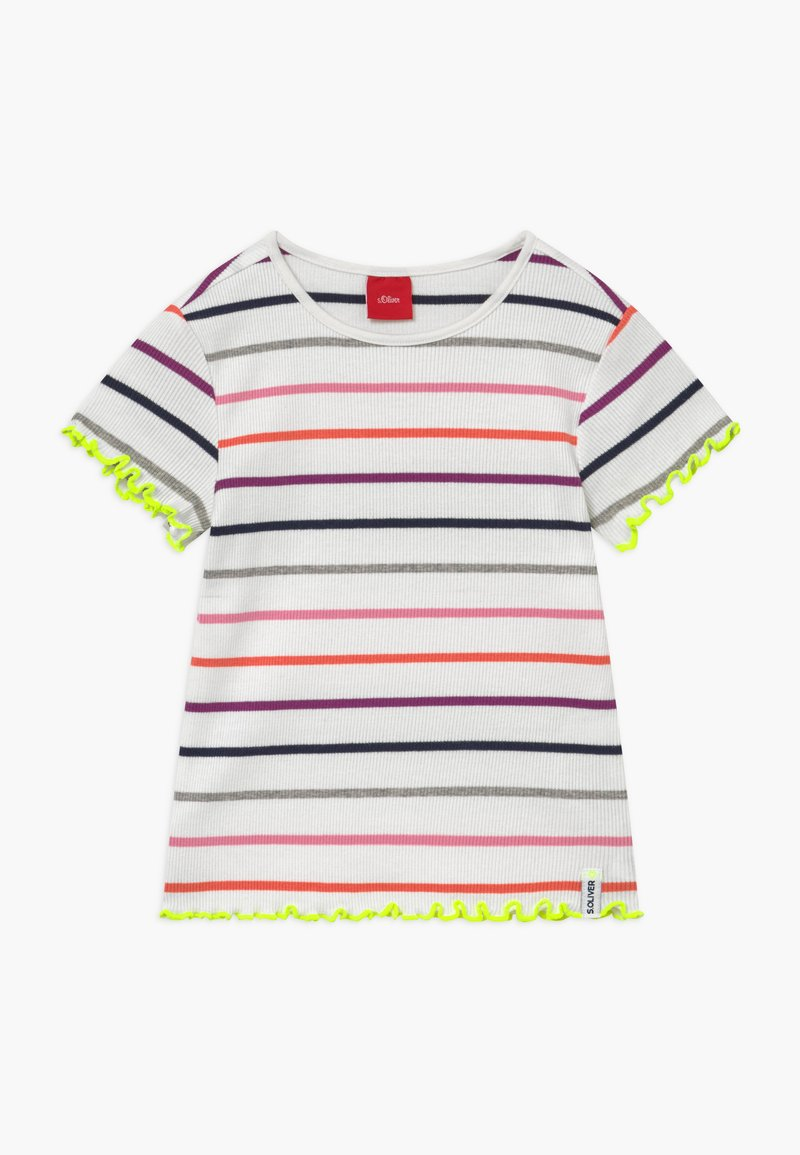 s.Oliver - KURZARM - T-shirt imprimé - white