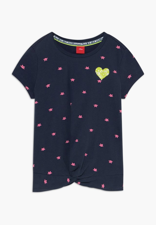 KURZARM - T-shirt print - aschblau