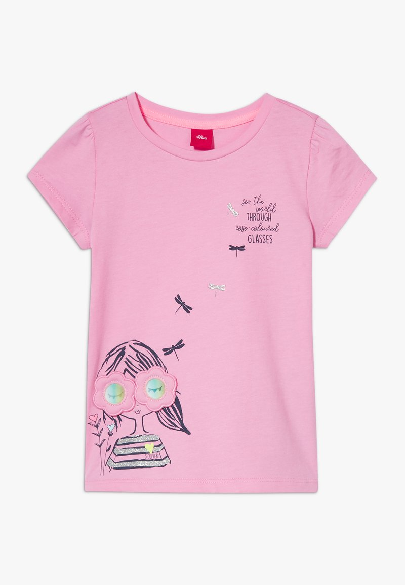 s.Oliver - KURZARM - T-shirt con stampa - pink