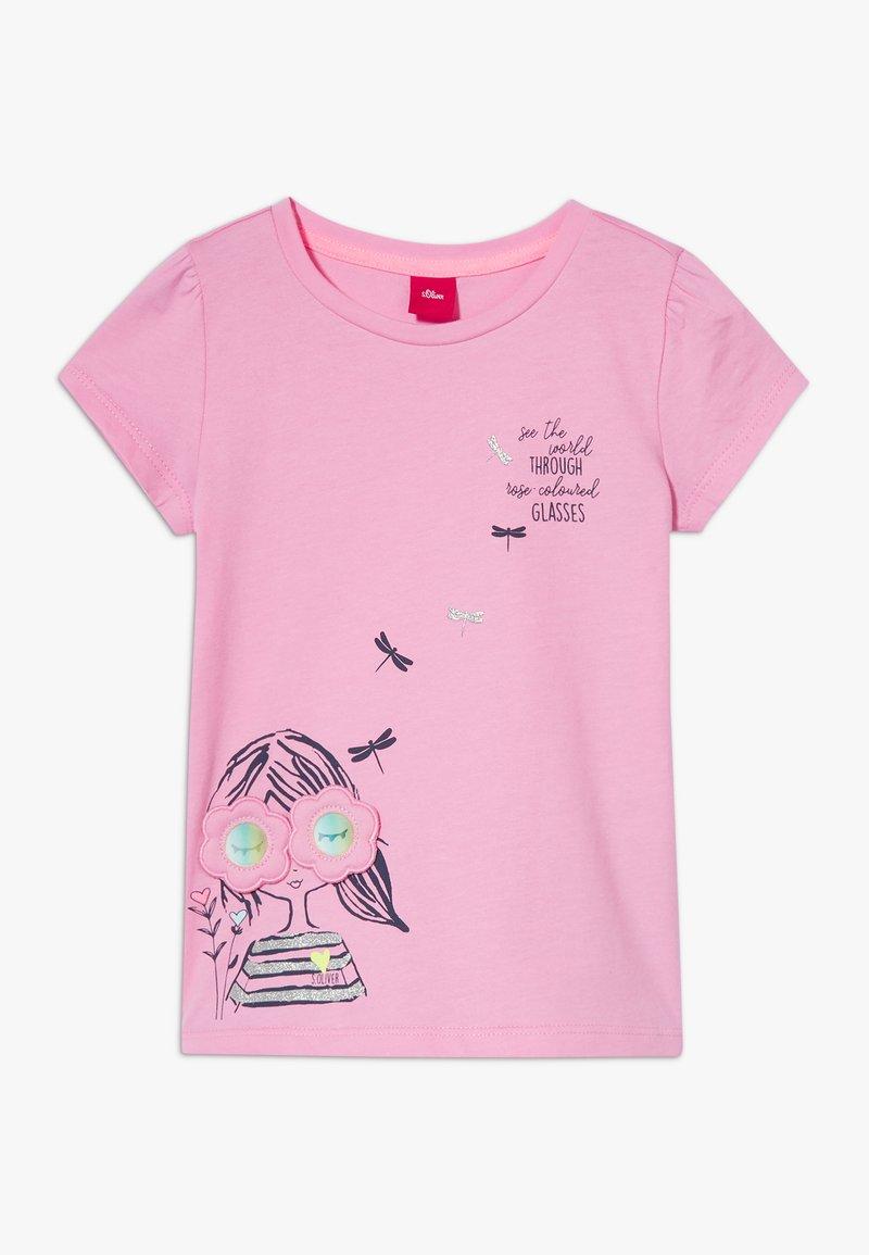 s.Oliver - KURZARM - Print T-shirt - pink