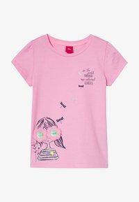 s.Oliver - KURZARM - Print T-shirt - pink - 3
