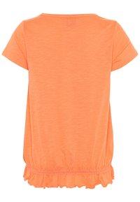 s.Oliver - KURZARM - T-shirt imprimé - orange - 1