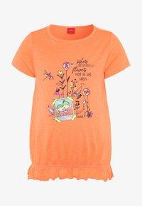s.Oliver - KURZARM - T-shirt imprimé - orange - 0