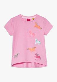 s.Oliver - KURZARM - Print T-shirt - light pink - 0