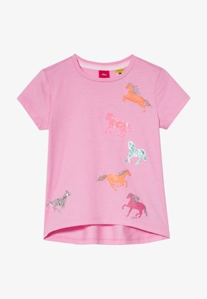 KURZARM - Print T-shirt - light pink