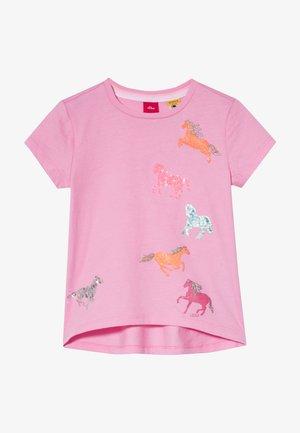 KURZARM - T-shirt print - light pink