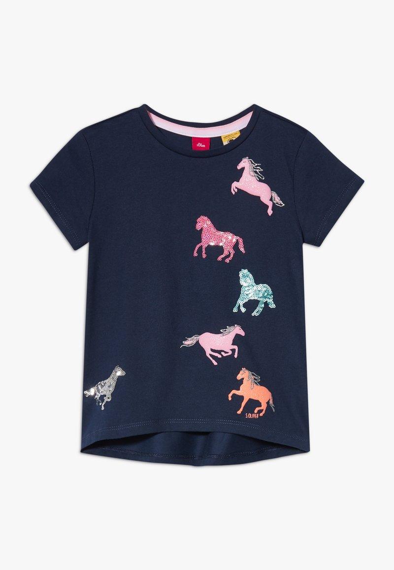 s.Oliver - KURZARM - T-shirt con stampa - dark blue
