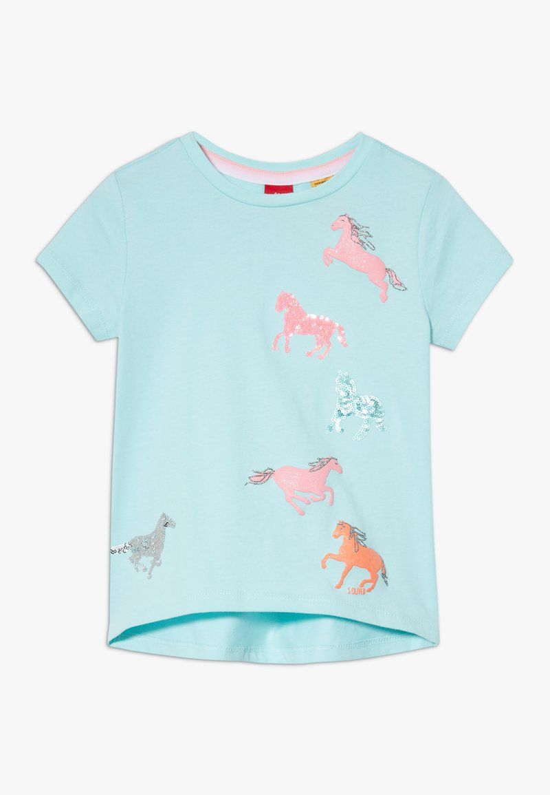s.Oliver - KURZARM - T-shirt con stampa - light mint