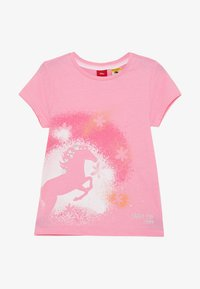 s.Oliver - KURZARM - T-shirt con stampa - pink - 2