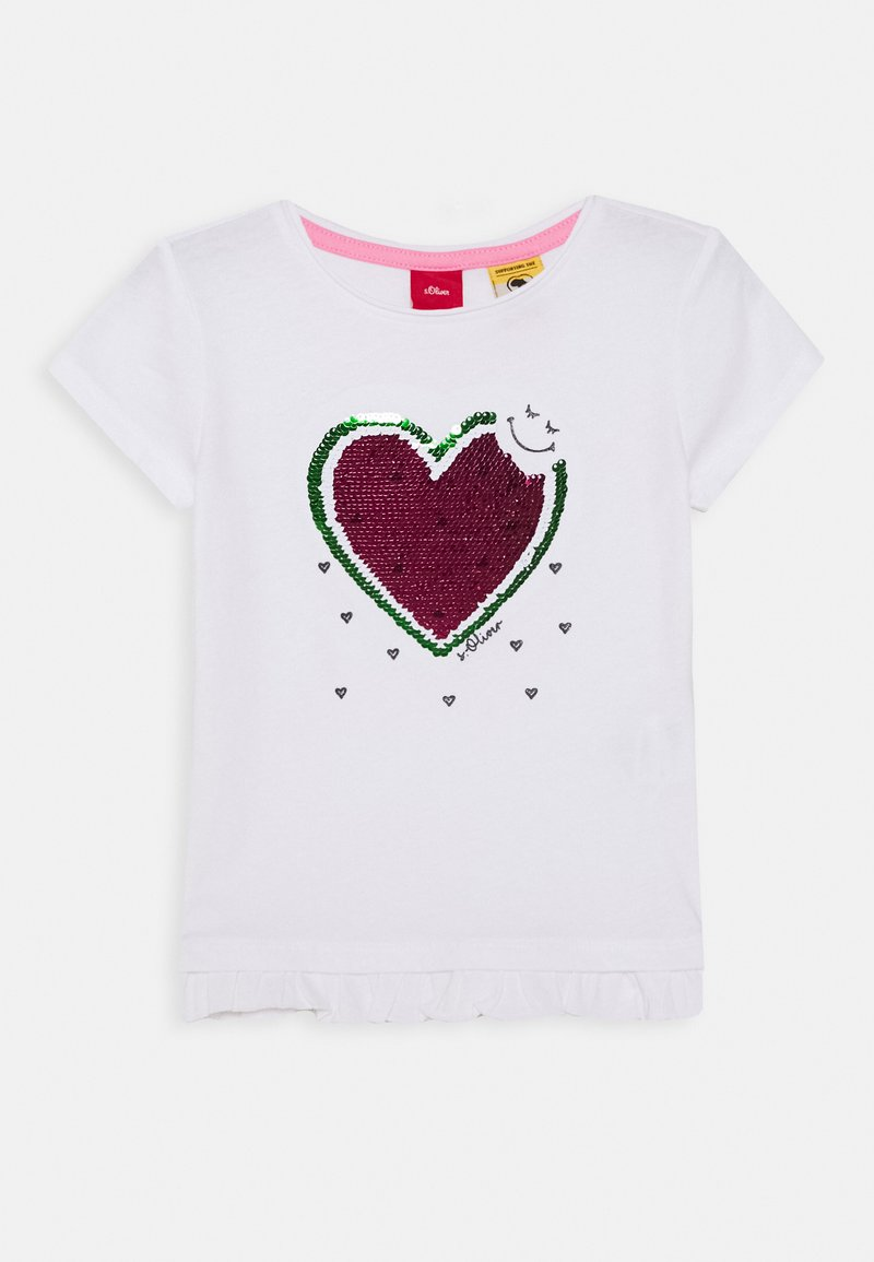 s.Oliver - T-shirt con stampa - white