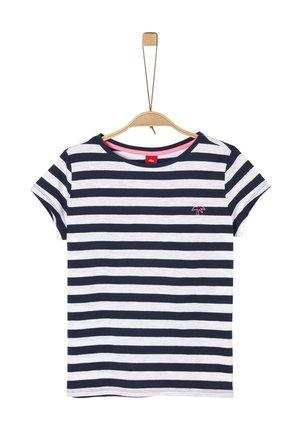 T-SHIRT - T-Shirt print - navy stripes