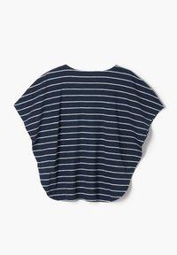 s.Oliver - MIT FLÜGELÄRMELN - Print T-shirt - dark blue stripes - 2