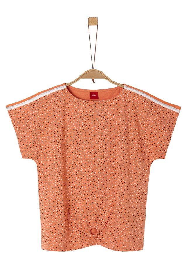MIT RAFF-DETAIL - T-shirt print - orange aop