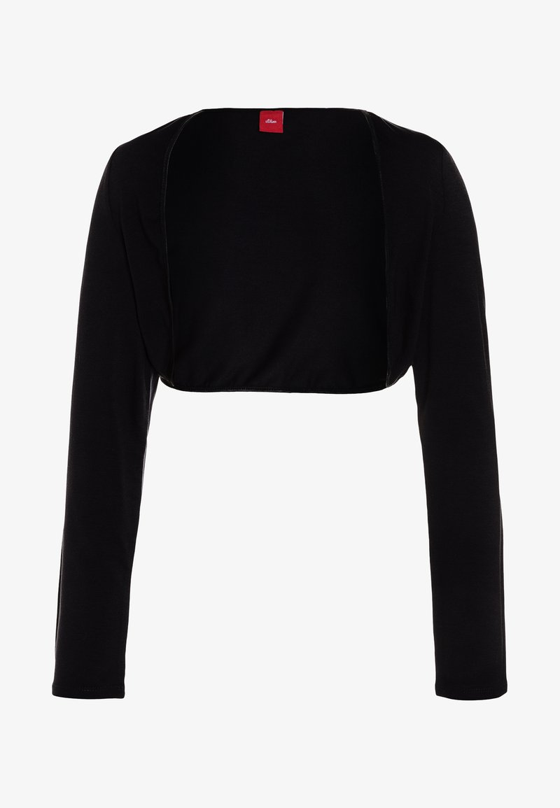 s.Oliver - BOLERO REGULAR FIT - Cardigan - black