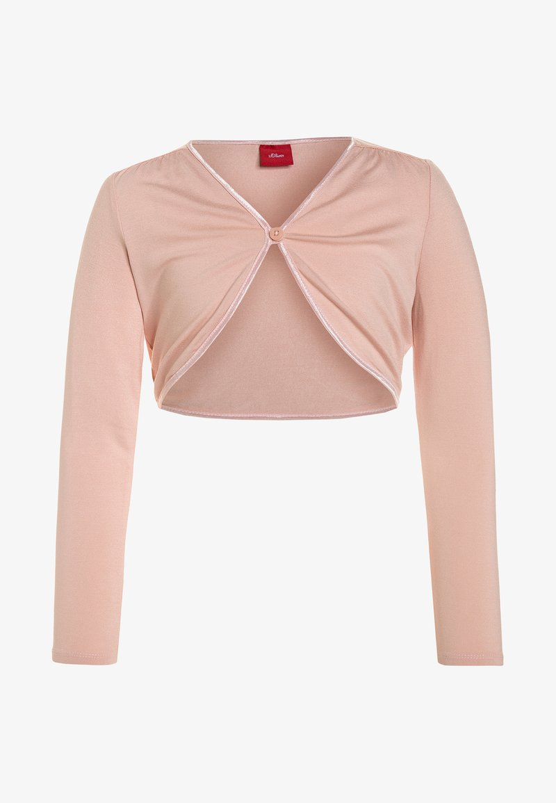 s.Oliver - BOLERO REGULAR FIT - Chaqueta de punto - light rose