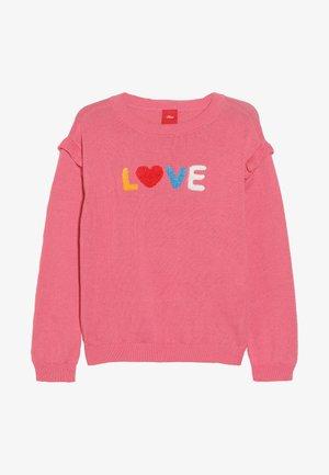 LANGARM - Strickpullover - pink