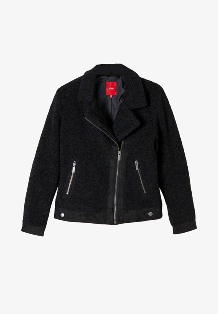s.Oliver - Faux leather jacket - black