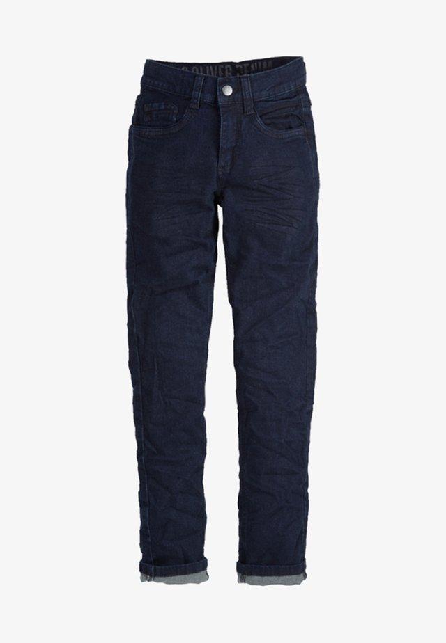 SEATTLE - Jeans Straight Leg - dark blue denim stretch