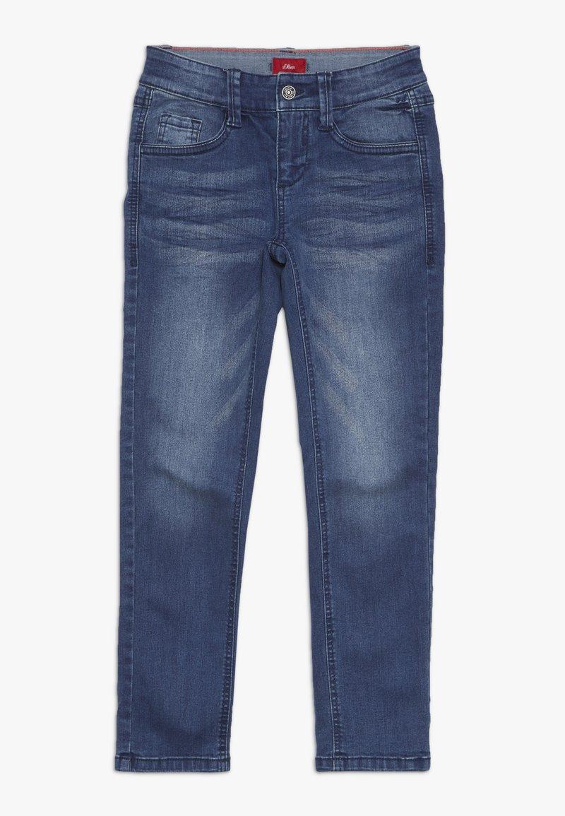 s.Oliver - HOSE - Jeans Slim Fit - blue denim