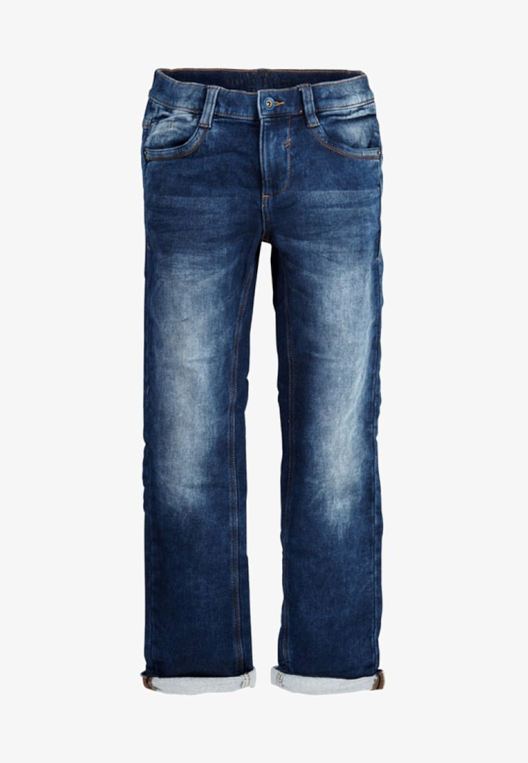 s.Oliver - MIT WASCHEFFEKT - Jeans Straight Leg - blue denim stretch