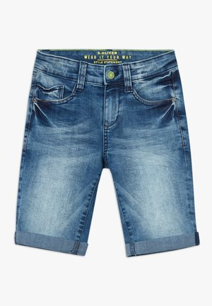 BERMUDA - Shorts vaqueros - blue denim