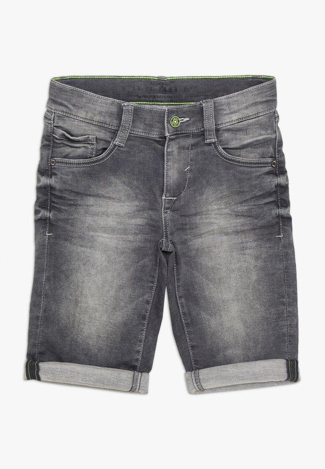 BERMUDA - Jeansshort - grey/black