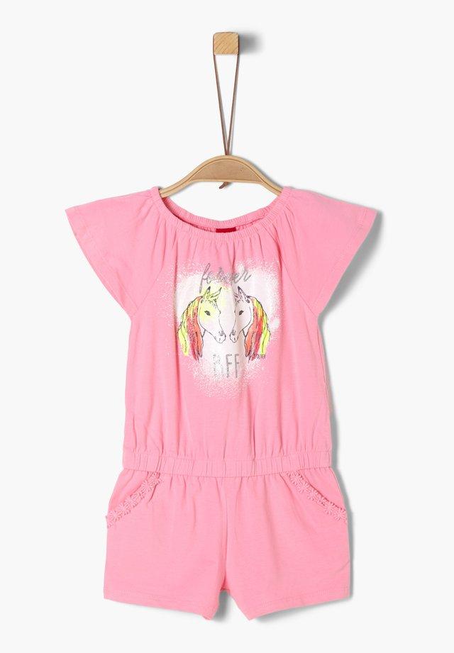 MIT GLITZER-PRINT - Jumpsuit - pink