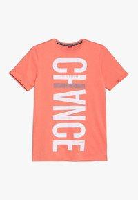 s.Oliver - KURZARM - Print T-shirt - orange - 0