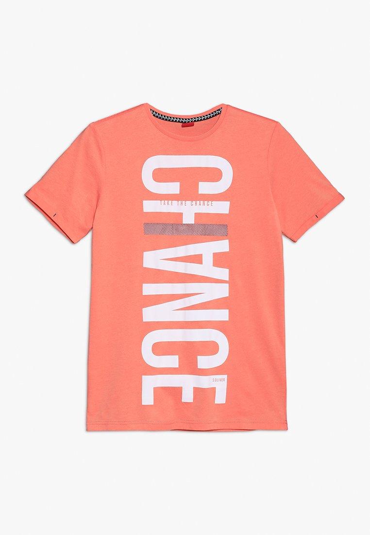 s.Oliver - KURZARM - Print T-shirt - orange