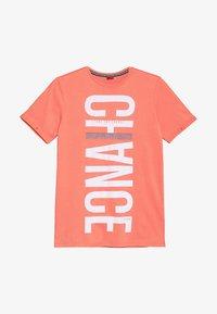 s.Oliver - KURZARM - Print T-shirt - orange - 2
