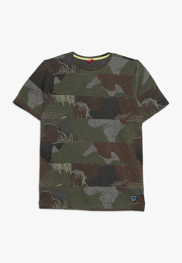 s.Oliver - KURZARM - T-Shirt print - khaki