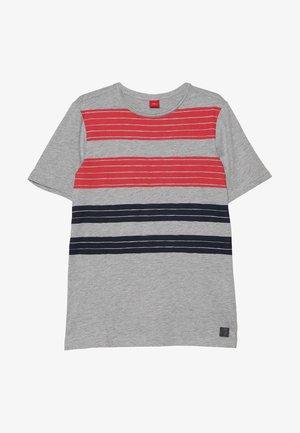 KURZARM - Camiseta estampada - grey melange